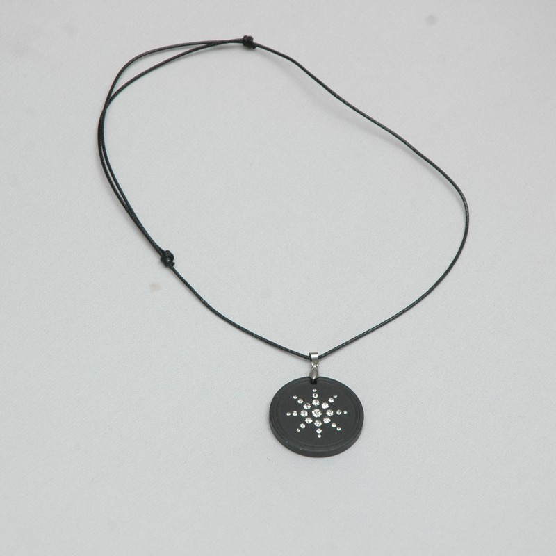 power black necklace ion new balance ions ionics fiber titanium pendant body energy carbon itm